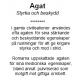 Armband Agat