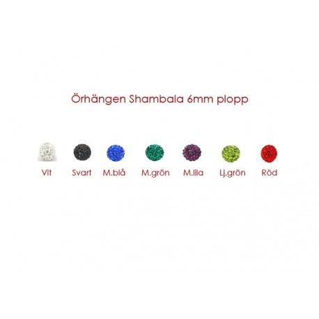 Shamballa örhängen  6mm plopp