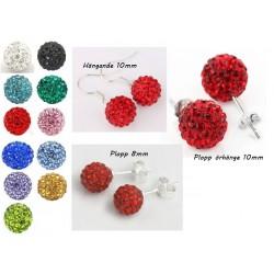 Shamballa örhängen  Red Crystal