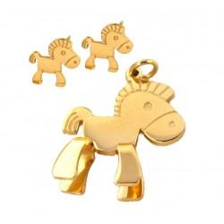 Örhängen Hästen Callisto i guld-doublé