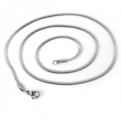 Stålhalsband ormlänk 1,2mm