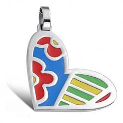 Stålhalsband Hjärta