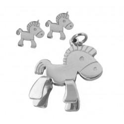 Örhängen Hästen Callisto i kirurgiskt stål