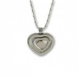 Stålhalsband Three hearts