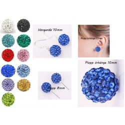 Shamballa örhängen  Blue Crystal