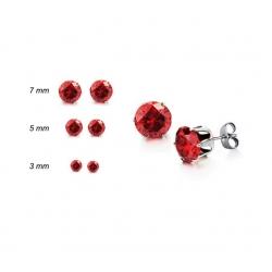 Cubik Zirkonia örhängen Röd