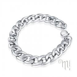 Stålarmband Pansarlänk i stål 12mm